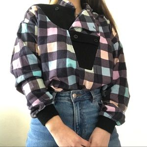 Checkered Pastel Long Sleeve (Vintage!)